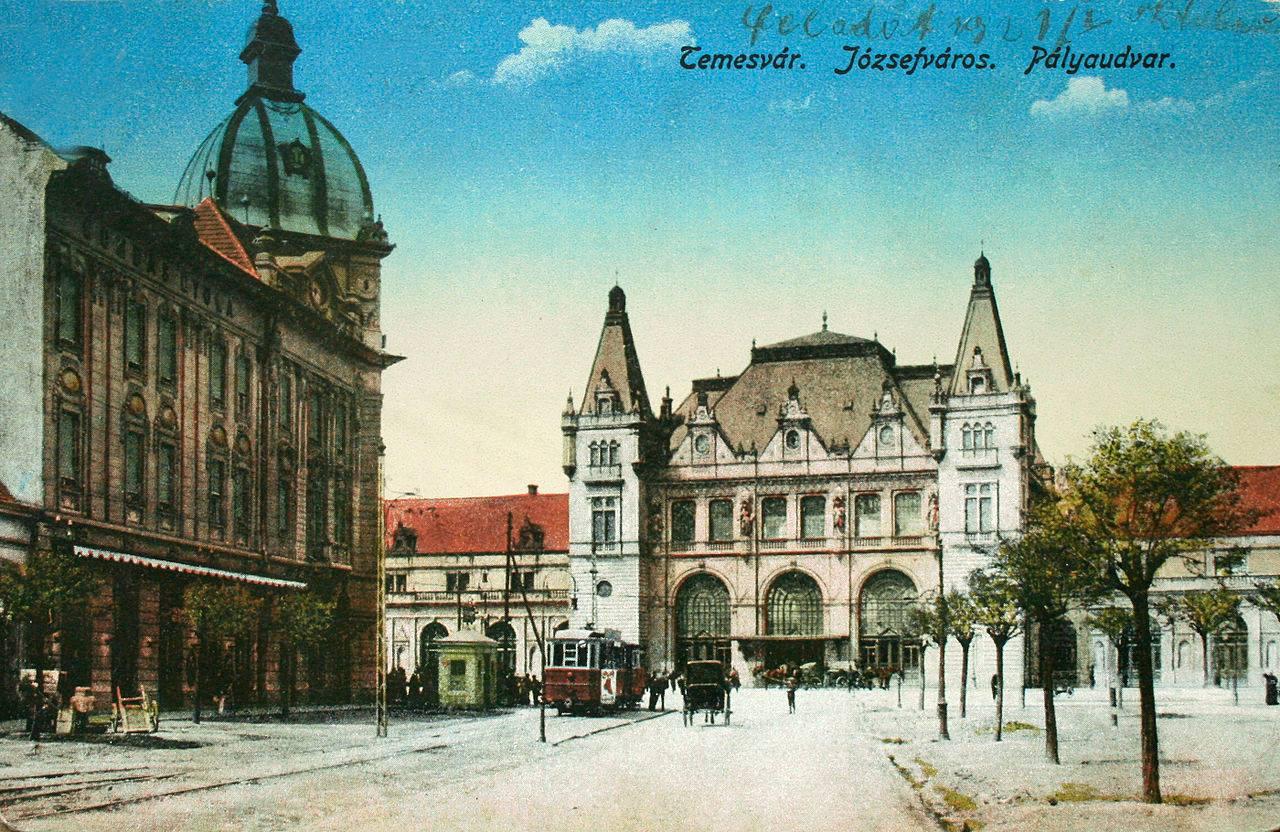 Gara Timișoara-Iosefin în 1871