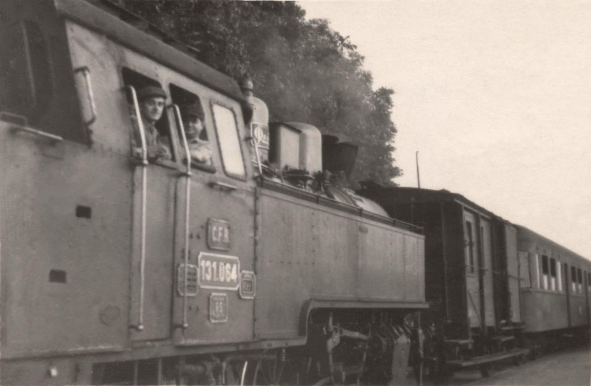 locomotiva cu abur 131.064 în Cermei - la data de 1.09.1956