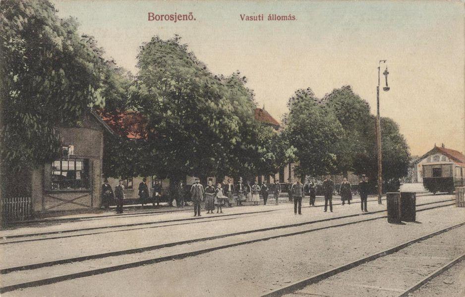 gara Ineu în anul 1913