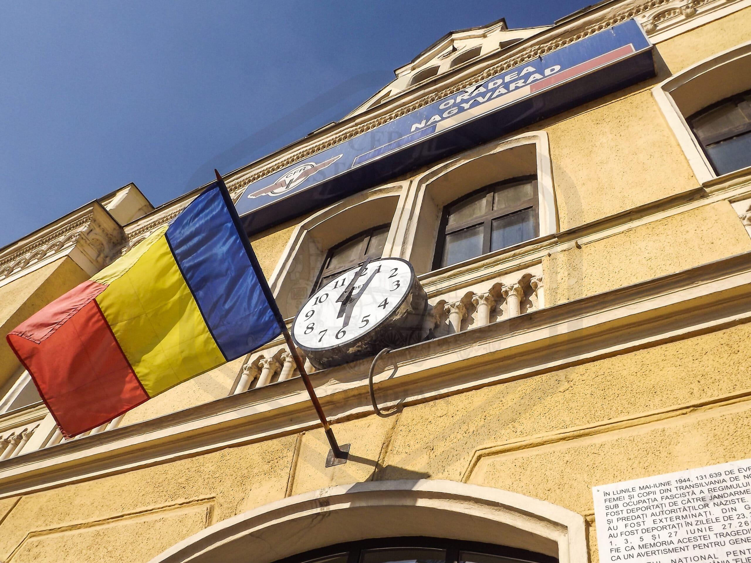 Fațada gării Oradea